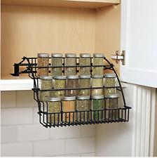 Rubbermaid Coated Wire In-Cabinet Spice Rack Storage Organizer Kitchen Black