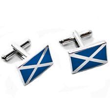 THISTLE CUFF LINKS Scotland Kilt Outfit Black & Silver Scottish Highland Wear UK