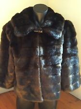 AS NEW CALVIN KLEIN WOMEN' FAUX FUR  LUXE JACKET SIZE M (12 -14)