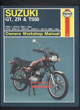 Suzuki Zr50S Ts50 Gt50 (1977-1990) Haynes Repair Manual Gt Zr Ts 50 Er X1 Bc28