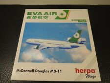 NEW HERPA WINGS 503419 EVA AIR AIRLINES MCDONNELL DOUGLAS MD-11 NIB 1:500 SCALE