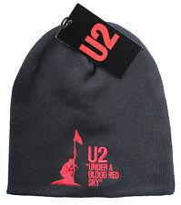 Oficial De U2-Bajo Un Rojo Sangre Sky-Negro Beanie