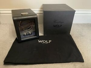 WOLF Heritage Collection Single Watch Winder In Black Rolex Omega Tudor etc