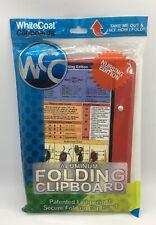WhiteCoat Clipboard Nursing Edition Aluminum Folding Clipboard Red New