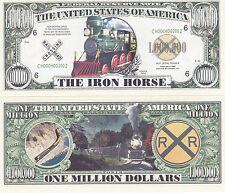 100 Iron Horse Steam Locomotive Train Novelty Bills Lot