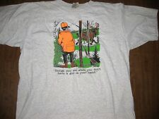 DEER HUNTING HUMOR vtg moose T-shirt XL Things you see with no gun in your hand