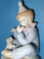 Vintage Meico Porcelan Revolving Musical Young Boy Clown Figurine Plays Feelings