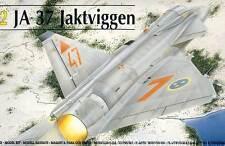 Heller - Saab JA-37 Jaktviggen Ronneby 1992 Modell-Bausatz 1:72 NEU OVP TIPP kit