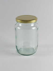 30 x 2lb Jam Round Glass Jar for Food Jam Chutney Pickle Honey Favours Sweets