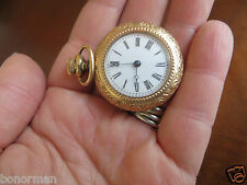 Old  Deco Vintage Gold Filled  Ladies Cavour Pocket Watch Ornate Setting No Run