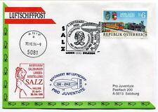 1994 Luftschiffpost n. 7 Pro Juventute Dirigibile OE-ZHZ Anif Hallein ONU