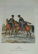 Polizei Gendarmerie Militaria Hessen Nassau Original Litho Eckert Monten 1840