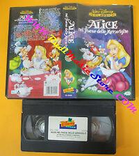 VHS film ALICE NEL PAESE DELLE MERAVIGLIE Animazione WALT DISNEY (F85) no dvd
