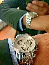 Chrono Diamond 1060AA Nestor Steel Silver 41mm Watch Service Polished(RRP £1385)