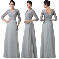 Half Sleeve Lace Long Formal Evening Bridesmaid Dress Mother of the Bride Dress