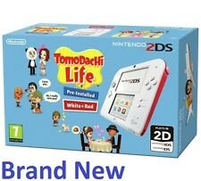 "Nintendo 2ds Pre-Installed Tomodachi Life Game - Red/White ""Brand New"""