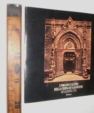 PESARO 1988 L'ORGANO CALLIDO CHIESA S. AGOSTINO 1776 LIBRO STORIA RELIGIONE  SC3
