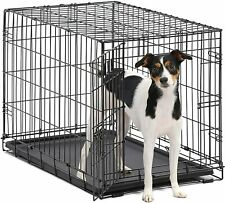 """48"""" Extra Large Giant Breed Dog Crate Kennel W/Divider Xl Pet Wire Cage Folding"""