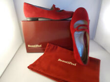 BeautiFeel Aline Red Suede Slip-ons Flats Women's Size 6-6.5 US New In Box