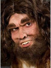 Urmensch Deluxe Set Karneval Neandertaler Maske Zähne