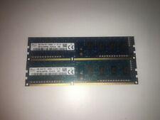 KIT MEMORIE RAM 2 x 4 GB = 8 GB DDR3 HYNIX PC3 12800U 1600 MHz 240 PIN DESKTOP