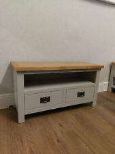 Dorset Grey Painted Small TV Unit / Entertainment Stand / Media Unit