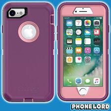 Genuine OtterBox Defender case cover for iPhone 7 8 Heavy Duty Vinyasa Purple