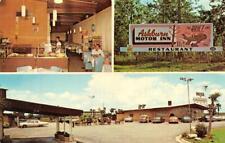 GA, Georgia  ASHBURN MOTOR INN~Honeybear Restaurant  ROADSIDE  Chrome Postcard