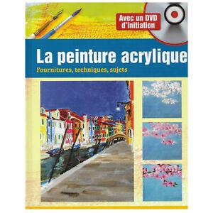 ACRYLIQUE  COURS DE PEINTURE - LIVRE NEUF + DVD D'INITIATION LOISIRS CREATIFS