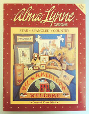 Alma Lynne Designs Counted Cross Stitch Pattern Book Star Spangled Country 1991