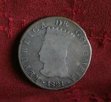 1821 8 Reales Ba JF Colombia Silver World Coin KMC6 Cundinamarca RARE