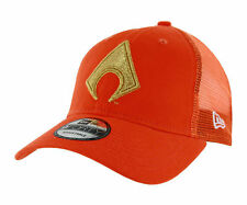 DC Comics Aquaman Symbol Washed Trucker Snapback Baseball Cap