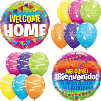 WELCOME HOME Latex & Foil Balloons (Qualatex) Party/Decoration (Helium)