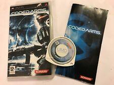 Juego de PlayStation de Sony PSP portátil codificado brazos por Konami + Caja Instructi 'completar