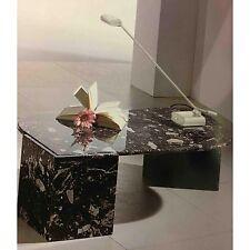 Tavolino da salotto a goccia tutto in marmo colore breccia