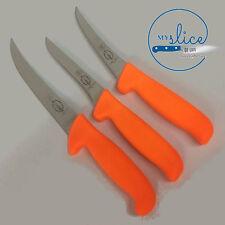 F Dick Pro Butcher 3 Piece Knife Set - Hi-Vis Orange Handles - Hunter / Farmer