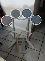 Wii Rockband Drum Kit, Stand, Pedal, Sticks NO DONGLE