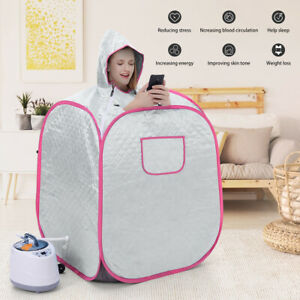 NEW Electrical Sauna Steam Kit Home Spa Portable Tent Full Body Massage+ Bag Cap