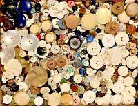 BUTTONS! HUGE Lot TWELVE POUNDS Vintage Sewing Buttons 12lb Estate Mix 12PD13
