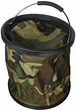 "Camouflage w/lid ""Presto Bucket"" Lightweight Collapsible Bucket by Garden Works"