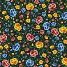Robert Kaufman Frida Kahlo AULD 19615 2 Black Flower Toss Cotton