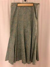 Peruvian Connection Blue Skirt Size 10 Pima Cotton Pleated Side Zipper