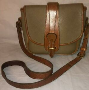Vintage DOONEY and BOURKE Purse TAN Brown Pebbled Leather Crossbody Shoulder Bag