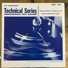 Stereophonic Frequency Test Record - Vinyl LP Album - STR-112 - CBS NEW