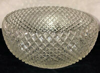 """Anchor Hocking MISS AMERICA CRYSTAL *8"""" X 4"""" CURVED IN BOWL*"""