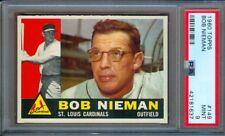 1960 TOPPS #149 BOB NIEMAN CARDINALS PSA 9