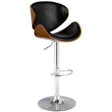 1PC Adjustable Swivel Bentwood Bar Stool PU Leather Modern Barstool Pub Chair