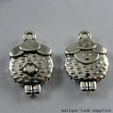 Vintage Silver Alloy Mini Sheep Mutton Shape Pendants Charms Findings 20x 50939