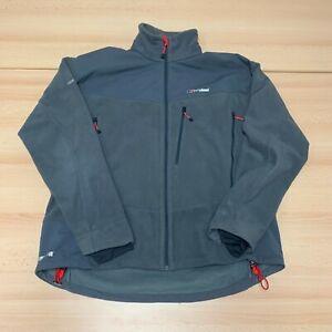 Berghaus Jacket Mens 2XL XXL Grey Full Zip Up Wind Stopper