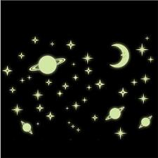 1Sheet Luminous Wall Sticker Glow In Dark Star Vinyl Decal Baby Room Decor